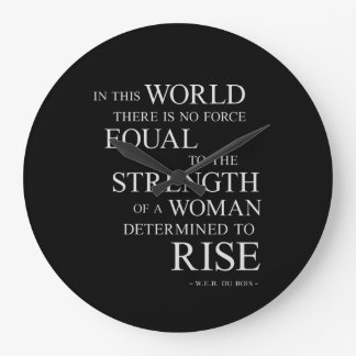 Strength Of Woman Inspirational Motivational Quote Wall Clock