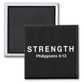 Strength Philippians 4:13 Square Magnet