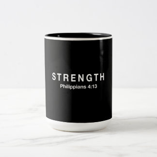 Strength Philippians 4:13 Two-Tone Coffee Mug