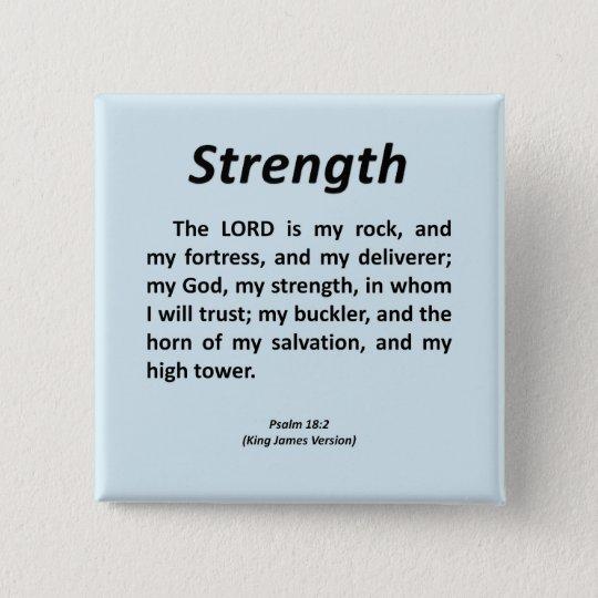 Strength Psalm 18-2 15 Cm Square Badge