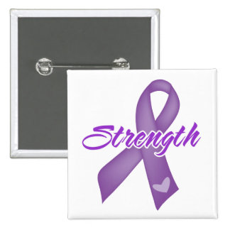Strength - Purple Ribbon Button