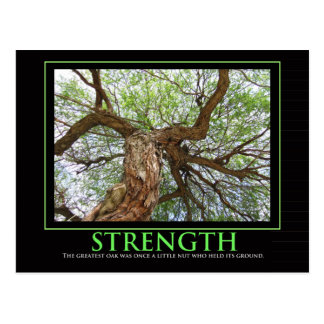 Strength quote to brighten anyday postcard