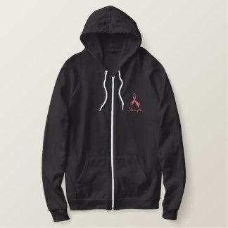 Strength Ribbon Sherpa-lined Zip Hoodie