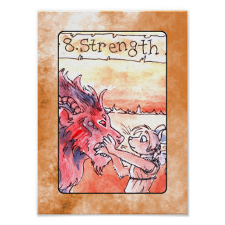 Strength Tarot Card Poster