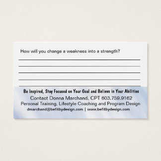 Strength Training Handout Card