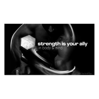 Strength Training Handout Card Business Card Templates