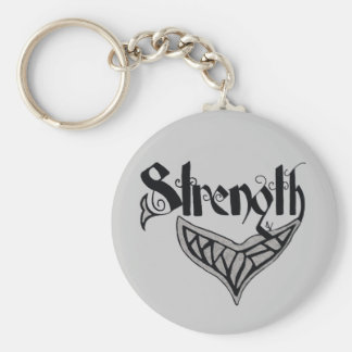 strength whale tail keychain