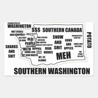 Streotypes of Washington Rectangular Sticker