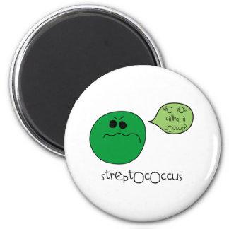 Streptococcus 6 Cm Round Magnet