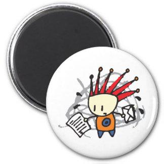 Stress 6 Cm Round Magnet