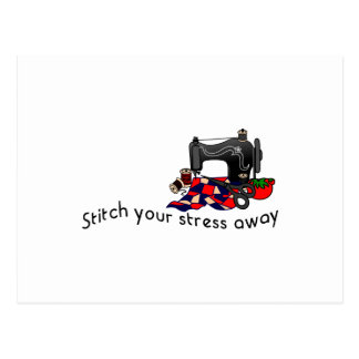 Stress Away Postcard
