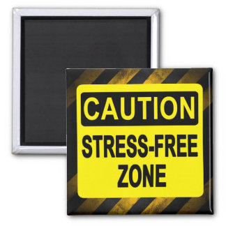"""""""Stress Free Zone"""" by Cheryl Daniels Square Magnet"""