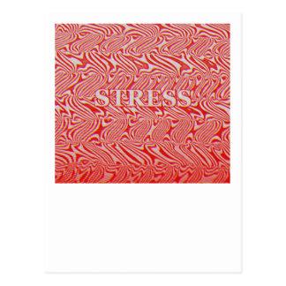 Stress Pattern Postcard