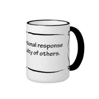 Stress: rational response to stuipidity ringer mug