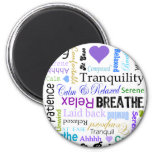 Stress-relief Calm & Relaxing Typography Refrigerator Magnet