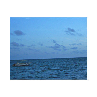 Stress relieving spa home decor blue sky sea stretched canvas prints