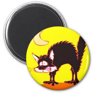 stressed cat fridge magnet