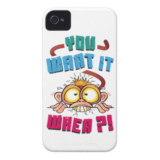 Stressed Monkey Case-Mate iPhone 4 Cases