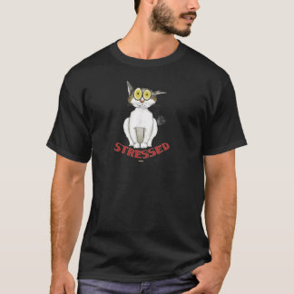 Stressed Out Cat Lucy T-Shirt