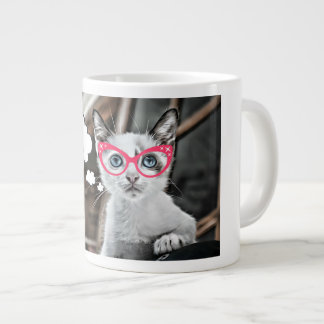 Stressed Out Coffee Loving Cat Large Coffee Mug