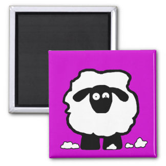 Stressed Sheep Square Magnet