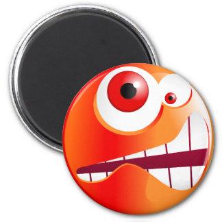 Stressed Smilie 6 Cm Round Magnet
