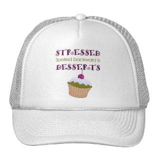 Stressed spelled backward is Desserts Mesh Hats