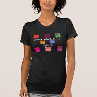 Stressed spelled backwards is desserts tee shirt