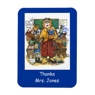 Stressed Teacher Magnet, Personalized with Name Rectangular Photo Magnet