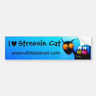 Stressie Cat bumper sticker
