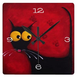 Stressie cat Clock