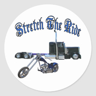 Stretch The Ride Round Sticker