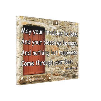 Stretched Canvas Irish Blessing by WishHunt