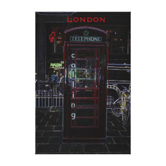 Stretched Canvas London Calling Phone Booth Gallery Wrap Canvas