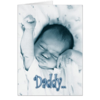 Stretching Baby Boy - Father s Day from Son Greeting Card