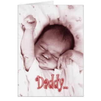 Stretching Baby Girl Father's Day from Daughter Greeting Card