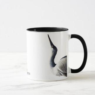 Stretching Heron Mug