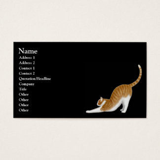 Stretching Orange Tabby Cat Business Card