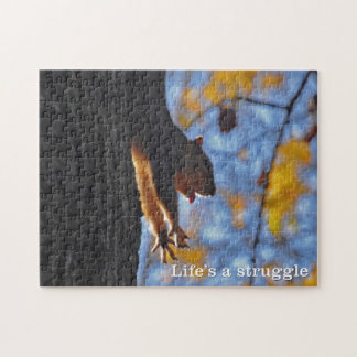 Stretching Squirrel Jigsaw Puzzle