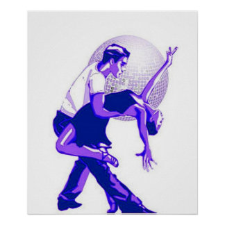 Strictly Salsa Blue Shades Poster