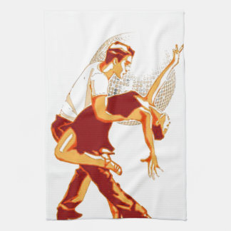 Strictly Salsa Brown Shades Tea Towel