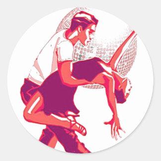 Strictly Salsa Red Shades Round Sticker