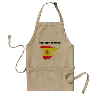 Strictly Spanish and map and flag print on Apron
