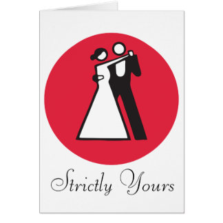 Strictly yours | icon of dancers card