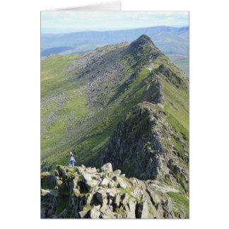 Striding Edge - English Lake District Card