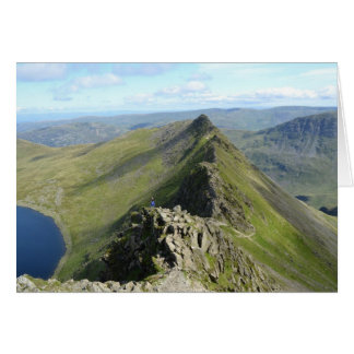 Striding Edge - English Lake District Card