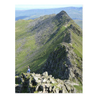 Striding Edge - English Lake District Postcard
