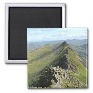 Striding Edge - English Lake District Square Magnet