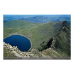 Striding Edge from Helvellyn, Lake District, Engla Poster