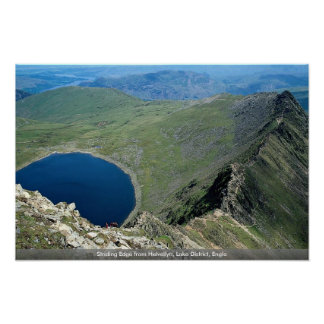 Striding Edge from Helvellyn Lake District Engla Print